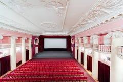 Εσωτερικό κινηματογράφων Στοκ Εικόνα