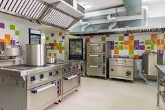 Εσωτερικό κουζινών στη φροντίδα των παιδιών Στοκ φωτογραφία με δικαίωμα ελεύθερης χρήσης