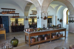 Εσωτερικό κουζινών στο παλάτι Pena σε Sintra, Πορτογαλία Στοκ φωτογραφία με δικαίωμα ελεύθερης χρήσης