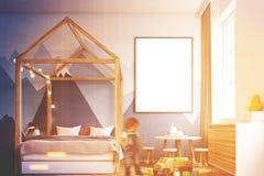 Εσωτερικό κρεβατοκάμαρων παιδιών s, αφίσα, αγόρι Στοκ Εικόνα