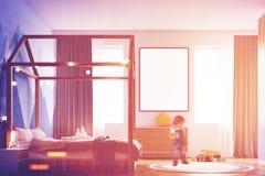 Εσωτερικό κρεβατοκάμαρων παιδιών s, αφίσα, πλευρά, αγόρι Στοκ φωτογραφίες με δικαίωμα ελεύθερης χρήσης