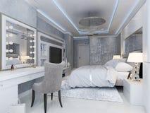 Εσωτερικό κρεβατοκάμαρων πολυτέλειας Στοκ φωτογραφία με δικαίωμα ελεύθερης χρήσης