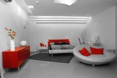 εσωτερικό κρεβατοκάμαρ& Στοκ φωτογραφία με δικαίωμα ελεύθερης χρήσης
