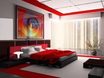 εσωτερικό κρεβατοκάμαρ& διανυσματική απεικόνιση