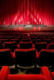 εσωτερικό κόκκινο θέατρο κινηματογράφων Στοκ Εικόνες