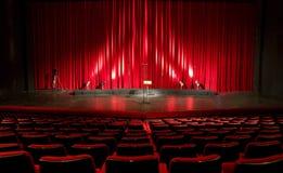 εσωτερικό κόκκινο θέατρο κινηματογράφων Στοκ φωτογραφία με δικαίωμα ελεύθερης χρήσης