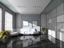 εσωτερικό λευκό καναπέδ& στοκ φωτογραφία με δικαίωμα ελεύθερης χρήσης