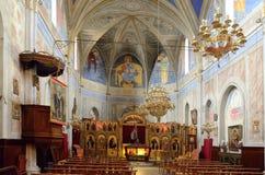 Εσωτερικό μέρος της βυζαντινής εκκλησίας Στοκ εικόνα με δικαίωμα ελεύθερης χρήσης