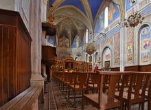 Εσωτερικό μέρος της βυζαντινής εκκλησίας, Cargese Στοκ εικόνα με δικαίωμα ελεύθερης χρήσης
