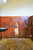 Εσωτερικό μέρος του σταύλου στο σπίτι τελών Audley σε Essex Στοκ Φωτογραφία