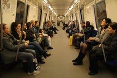 Εσωτερικό μετρό Στοκ Εικόνες