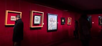 Εσωτερικό με τις διάσημες εργασίες του καλλιτέχνη στο μουσείο του Δαλιού Στοκ εικόνες με δικαίωμα ελεύθερης χρήσης