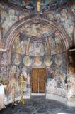 Εσωτερικό μιας βυζαντινής εκκλησίας 14ου αιώνας Στοκ Φωτογραφία