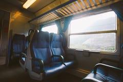 Εσωτερικό μιας ιταλικής μεταφοράς σιδηροδρόμων Κανένας άνθρωπος στοκ φωτογραφίες με δικαίωμα ελεύθερης χρήσης