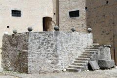 Εσωτερικό παλαιό κάστρο σε Pazin, Istria Στοκ Φωτογραφίες