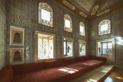 Εσωτερικό παλατιών Topkapi, Ιστανμπούλ, Τουρκία Στοκ Φωτογραφία