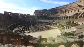 Εσωτερικό πανόραμα Coliseum απόθεμα βίντεο