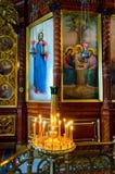 Εσωτερικό παρεκκλησι Nadkladeznaya στην ιερή τριάδα ST Sergius Lavra Στοκ Φωτογραφίες