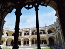 Εσωτερικό προαύλιο των nimos Λισσαβώνα, Πορτογαλία DOS Jerà ³ μοναστηριών Στοκ Εικόνες