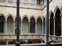 Εσωτερικό προαύλιο στο παλάτι Generalitat de Catalunya Στοκ Εικόνες