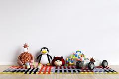 Εσωτερικό πρότυπο τοίχων χώρων για παιχνίδη παιδιών - τρισδιάστατη απόδοση, τρισδιάστατη απεικόνιση ελεύθερη απεικόνιση δικαιώματος