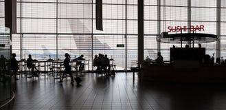 εσωτερικό πυλών αερολιμένων στη διάβαση πεζών Στοκ Φωτογραφία