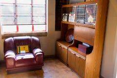 Εσωτερικό σπίτι του Νέλσον Μαντέλα σε Soweto Νότια Αφρική Στοκ Φωτογραφία