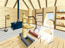 Εσωτερικό σπίτι φυσιοδιφών στο χρώμα Στοκ φωτογραφίες με δικαίωμα ελεύθερης χρήσης