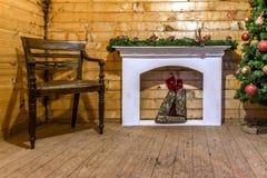 Εσωτερικό σπιτιών στα Χριστούγεννα Στοκ φωτογραφίες με δικαίωμα ελεύθερης χρήσης