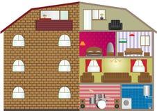 Εσωτερικό σπιτιών Διανυσματική απεικόνιση