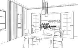 Εσωτερικό σχέδιο συνήθειας καθιστικών σχεδίου Στοκ φωτογραφίες με δικαίωμα ελεύθερης χρήσης