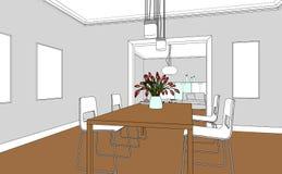 Εσωτερικό σχέδιο συνήθειας καθιστικών σχεδίου Στοκ Φωτογραφίες