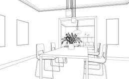 Εσωτερικό σχέδιο συνήθειας καθιστικών σχεδίου Στοκ Εικόνες