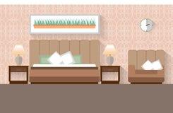 Εσωτερικό σχέδιο κρεβατοκάμαρων Απεικόνιση αποθεμάτων