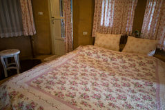 Εσωτερικό σχέδιο δωματίων κρεβατιών Στοκ Φωτογραφίες