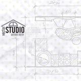 Εσωτερικό σχέδιο Kithen σχεδίων Στοκ Εικόνα