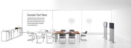 εσωτερικό σύγχρονο γραφείο Στοκ φωτογραφία με δικαίωμα ελεύθερης χρήσης
