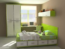 εσωτερικό σύγχρονο δωμάτ& Στοκ φωτογραφίες με δικαίωμα ελεύθερης χρήσης