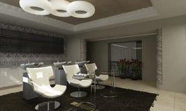 εσωτερικό σύγχρονο σαλόνι σχεδίου ομορφιάς απεικόνιση αποθεμάτων