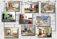 εσωτερικό σύγχρονο σύνολο εικόνας Στοκ εικόνες με δικαίωμα ελεύθερης χρήσης