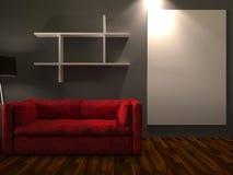 εσωτερικό σύγχρονο δωμάτ& Στοκ εικόνα με δικαίωμα ελεύθερης χρήσης