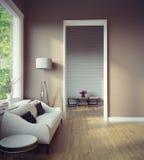 εσωτερικό σύγχρονο δωμάτ& Στοκ εικόνες με δικαίωμα ελεύθερης χρήσης