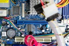 Εσωτερικό σύστημα υλικού ενός υπολογιστή γραφείου Στοκ Εικόνες