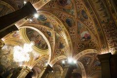 Εσωτερικό της αίθουσας του ST George στο παλάτι Generalitat de Catalunya Στοκ φωτογραφία με δικαίωμα ελεύθερης χρήσης