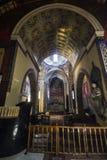 Εσωτερικό της αρμενικής εκκλησίας στο κέντρο Lviv Ουκρανία στοκ εικόνα