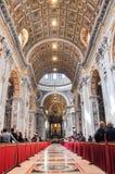 Εσωτερικό της βασιλικής Αγίου Peter, Βατικανό Στοκ Εικόνα