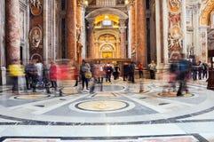 Εσωτερικό της βασιλικής Αγίου Peter, Βατικανό Στοκ Φωτογραφία