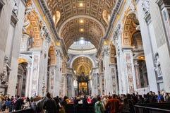 Εσωτερικό της βασιλικής Αγίου Peter, Βατικανό Στοκ φωτογραφία με δικαίωμα ελεύθερης χρήσης