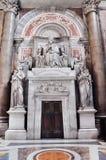 Εσωτερικό της βασιλικής Αγίου Peter, Βατικανό Στοκ Φωτογραφίες