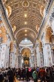 Εσωτερικό της βασιλικής Αγίου Peter, Βατικανό Στοκ φωτογραφίες με δικαίωμα ελεύθερης χρήσης